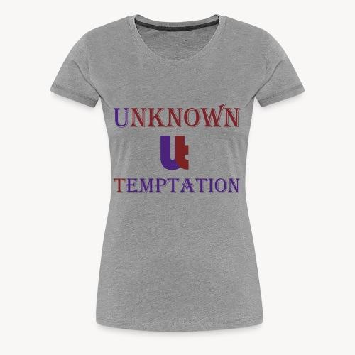 Unknown Temptation Logo - Women's Premium T-Shirt