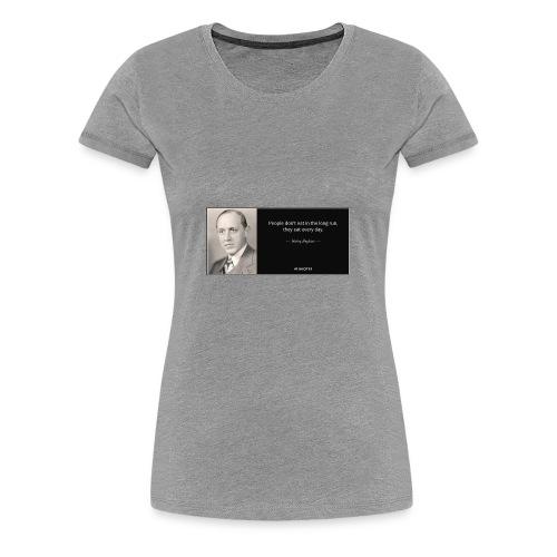 wise quote - Women's Premium T-Shirt