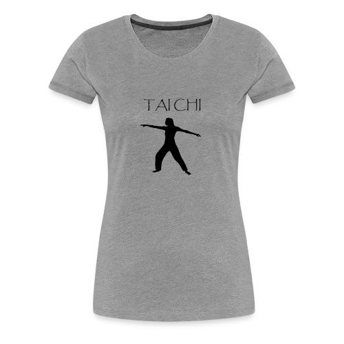 Tai Chi Pose Woman Silhouette - Women's Premium T-Shirt