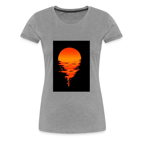 Creative picture of sun going down with nice color - Women's Premium T-Shirt