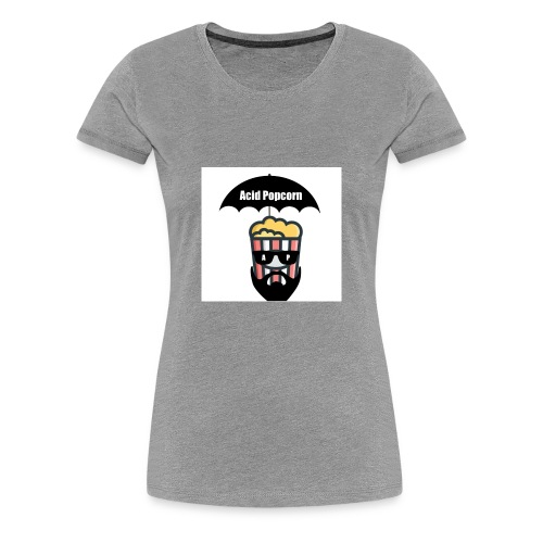 Acid Popcorn Logo Official - Women's Premium T-Shirt