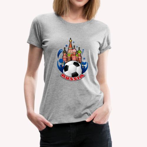 001 Russian buildings and ball - Women's Premium T-Shirt