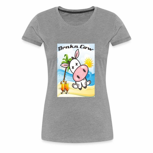 Drunken Cow Beach - Women's Premium T-Shirt