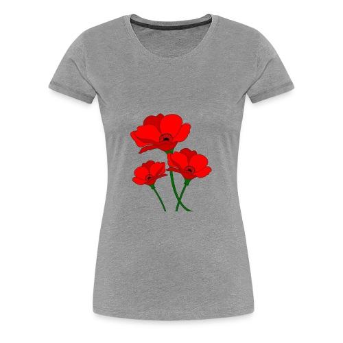 red poppies spring - Women's Premium T-Shirt