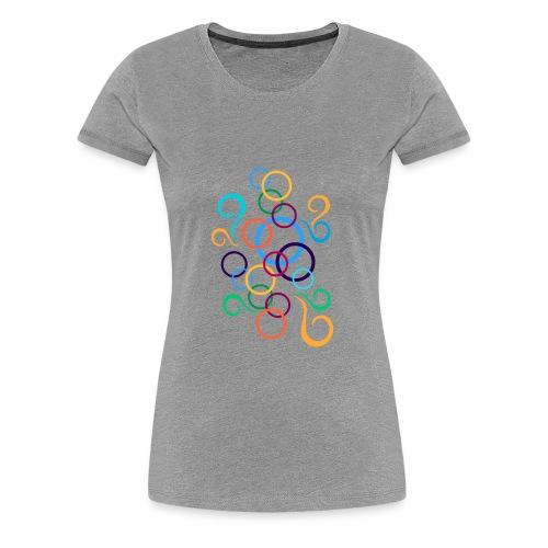 multicolored circles - Women's Premium T-Shirt