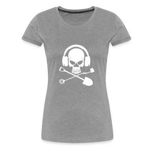 Silver Pirate Logo White LARGE TRANS - Women's Premium T-Shirt