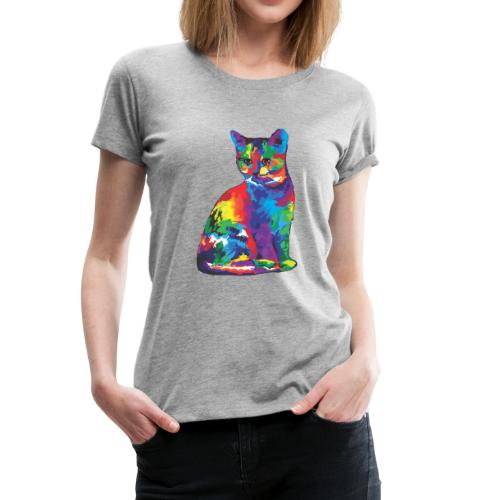 Flashy Cat - Women's Premium T-Shirt