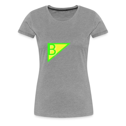 Neon green superman - Women's Premium T-Shirt