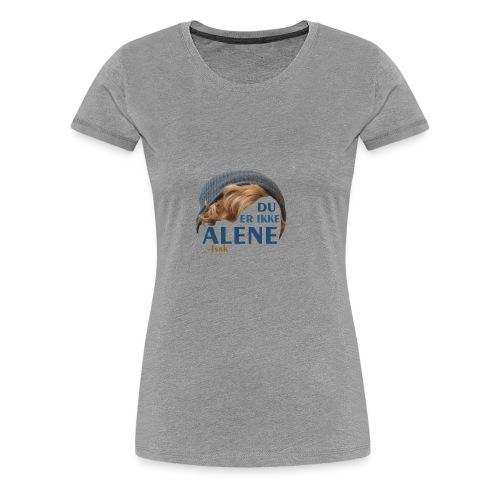 Du er ikke alene (Skam) - Women's Premium T-Shirt