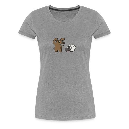 Barr and Sheep funny tshirt - Women's Premium T-Shirt