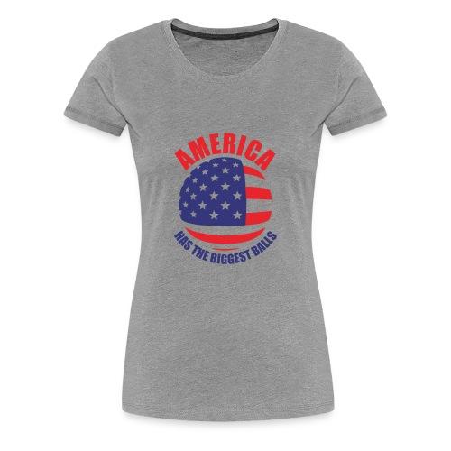 America has the biggest balls Funny Logo - Women's Premium T-Shirt