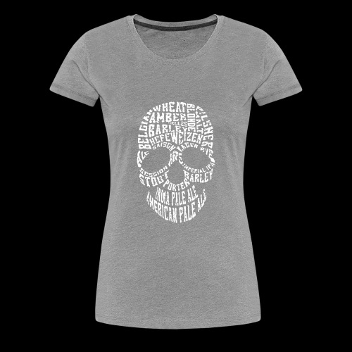 Typography Skull Logo - Women's Premium T-Shirt