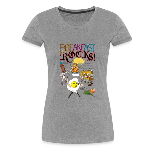 Breakfast Rocks! - Women's Premium T-Shirt