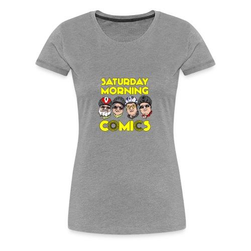 Saturday Morning Comics - Women's Premium T-Shirt