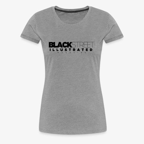 BlackStreet Illustrated - Black Print - Women's Premium T-Shirt