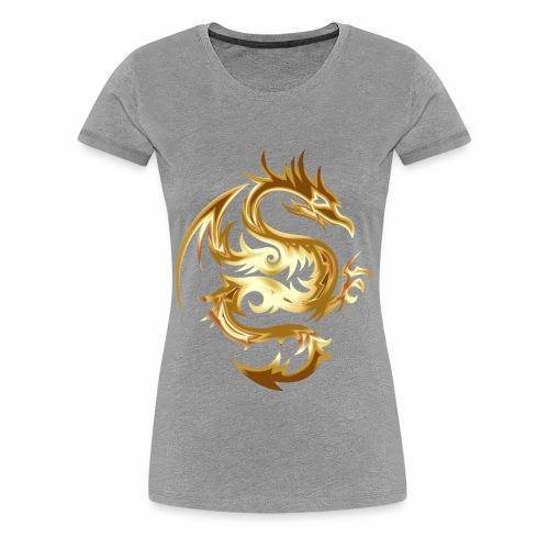 Abstract golden dragon - Women's Premium T-Shirt