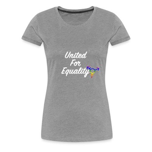 White United For Equality Logo - Women's Premium T-Shirt