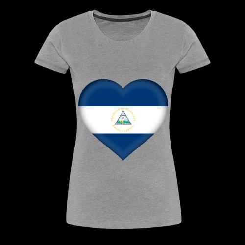 Nicaragua flag - Women's Premium T-Shirt