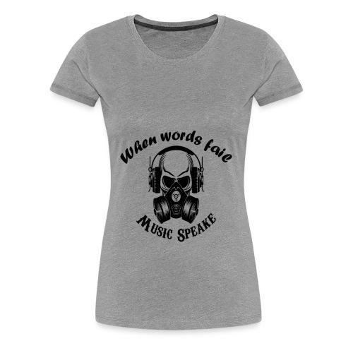 music speake - Women's Premium T-Shirt