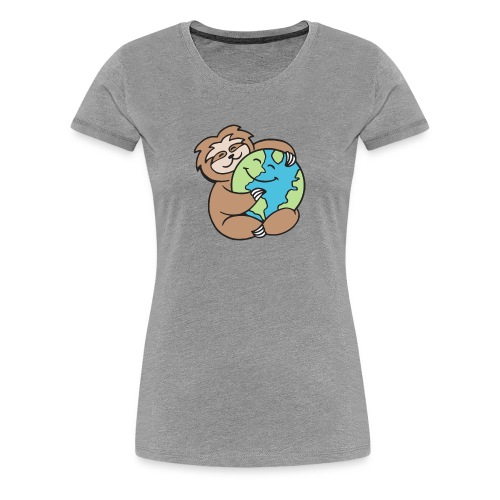 Worldy Sloth - Women's Premium T-Shirt