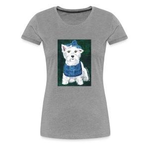 Laddie my Westie a Westie Highland White Terrier - Women's Premium T-Shirt