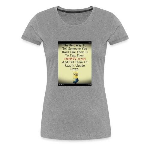 22312eac233ad515db9f8003c494f795 chef funny minio - Women's Premium T-Shirt