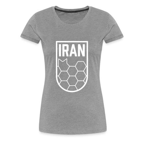 Geometric Iran Soccer Badge - Women's Premium T-Shirt