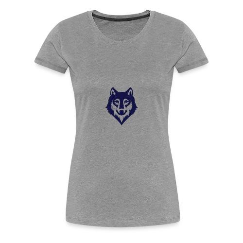 9a45729d3404bccd07a3281e8b3a12ec wolf stencil wol - Women's Premium T-Shirt