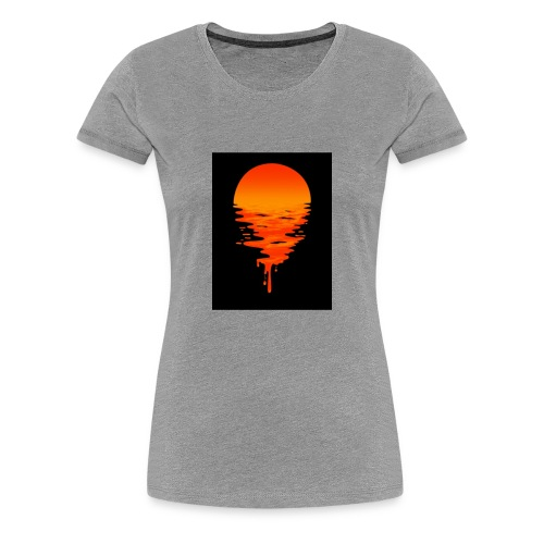 Sunset melting away - Women's Premium T-Shirt
