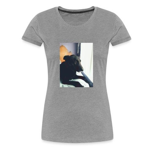 Dog on bed - Women's Premium T-Shirt