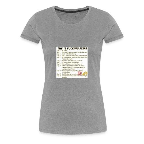 Breakdown of the 12 steps. - Women's Premium T-Shirt