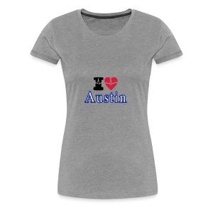 Love Austin Heart - Women's Premium T-Shirt