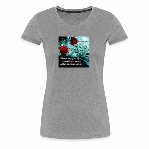 Proverbs 10:22 - Women's Premium T-Shirt