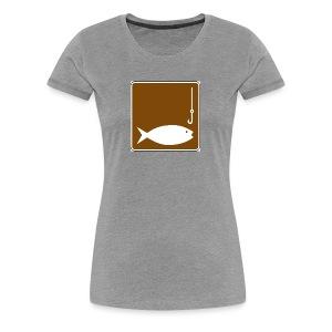Fishing clipart image - Women's Premium T-Shirt