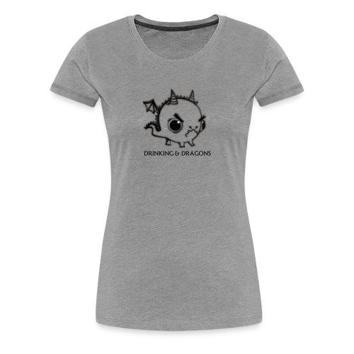ANGRY DRAGON - Women's Premium T-Shirt