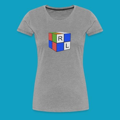 Faded Cube - Women's Premium T-Shirt