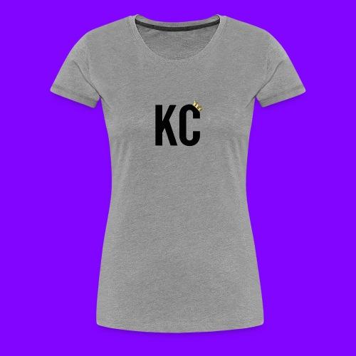 Black Font KC - Women's Premium T-Shirt