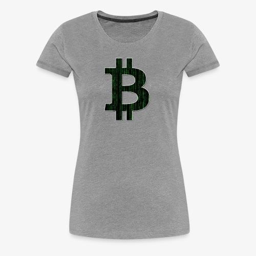 BTC Logo Matrix - Women's Premium T-Shirt