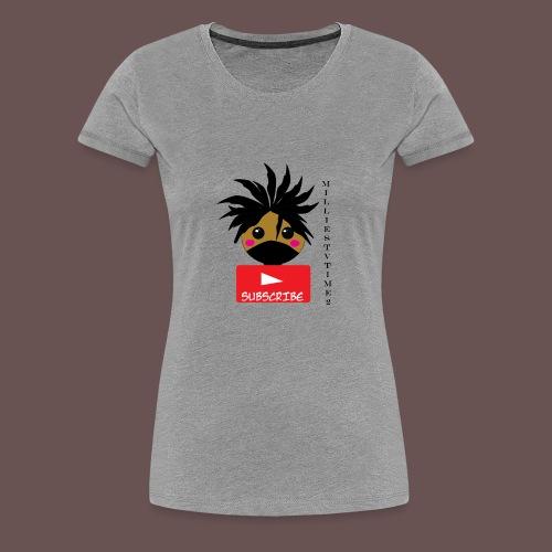 MilliesTVTime2 Subscribe - Women's Premium T-Shirt