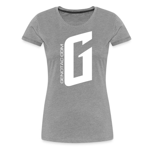 White G - Women's Premium T-Shirt