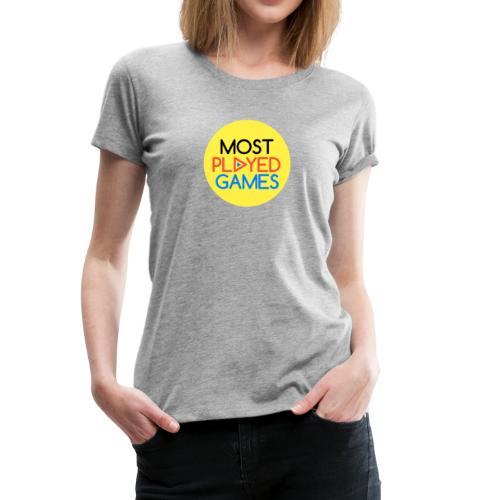 Most Played Games Logo - Women's Premium T-Shirt