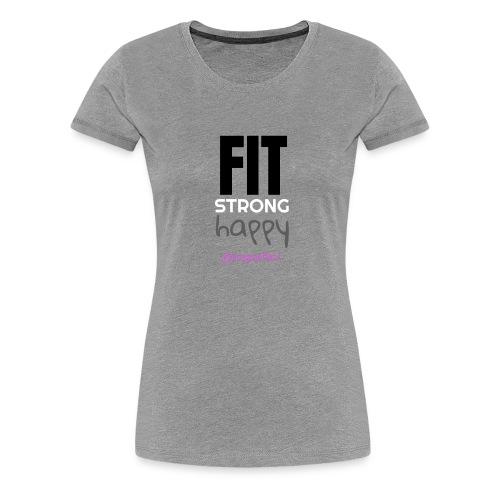 fit strong happy colour - Women's Premium T-Shirt