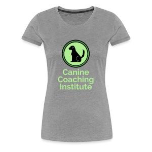 Canine Coaching Institute Logo with Light Green - Women's Premium T-Shirt