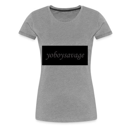 yoboysavagelogo - Women's Premium T-Shirt