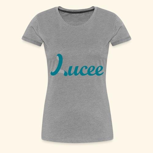 Lucee logo turquoise - Women's Premium T-Shirt