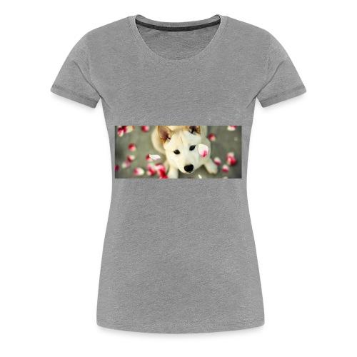 husky type pup - Women's Premium T-Shirt