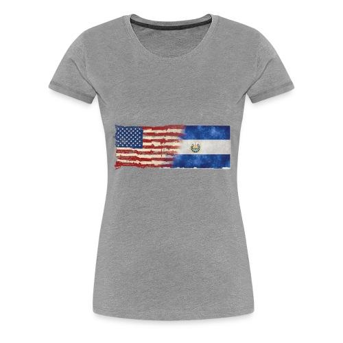 soy un americano salvadoreno - Women's Premium T-Shirt