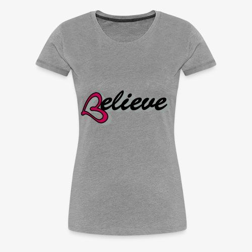believeheart - Women's Premium T-Shirt