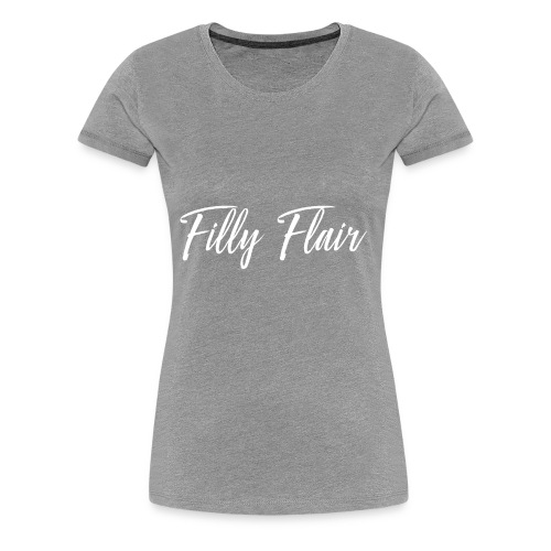 fillyflair white logo - Women's Premium T-Shirt