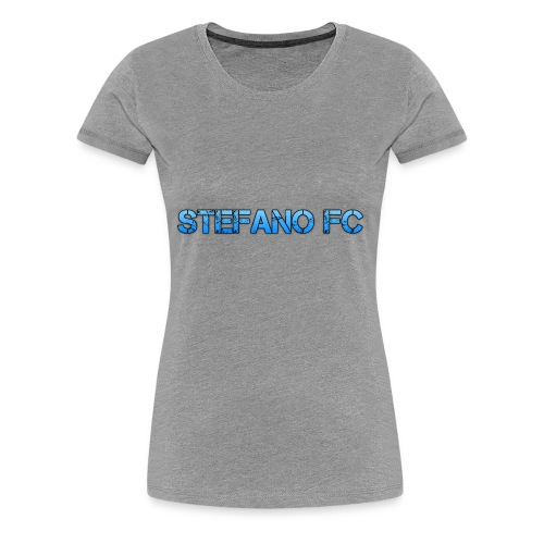 Blue Stefano FC Text - Women's Premium T-Shirt